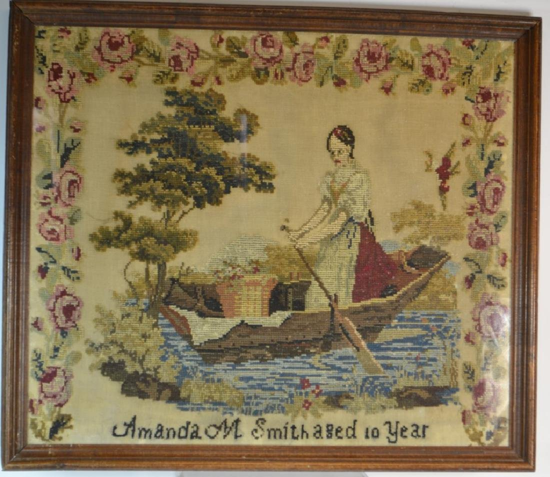 19th Century American Needlepoint (1843)