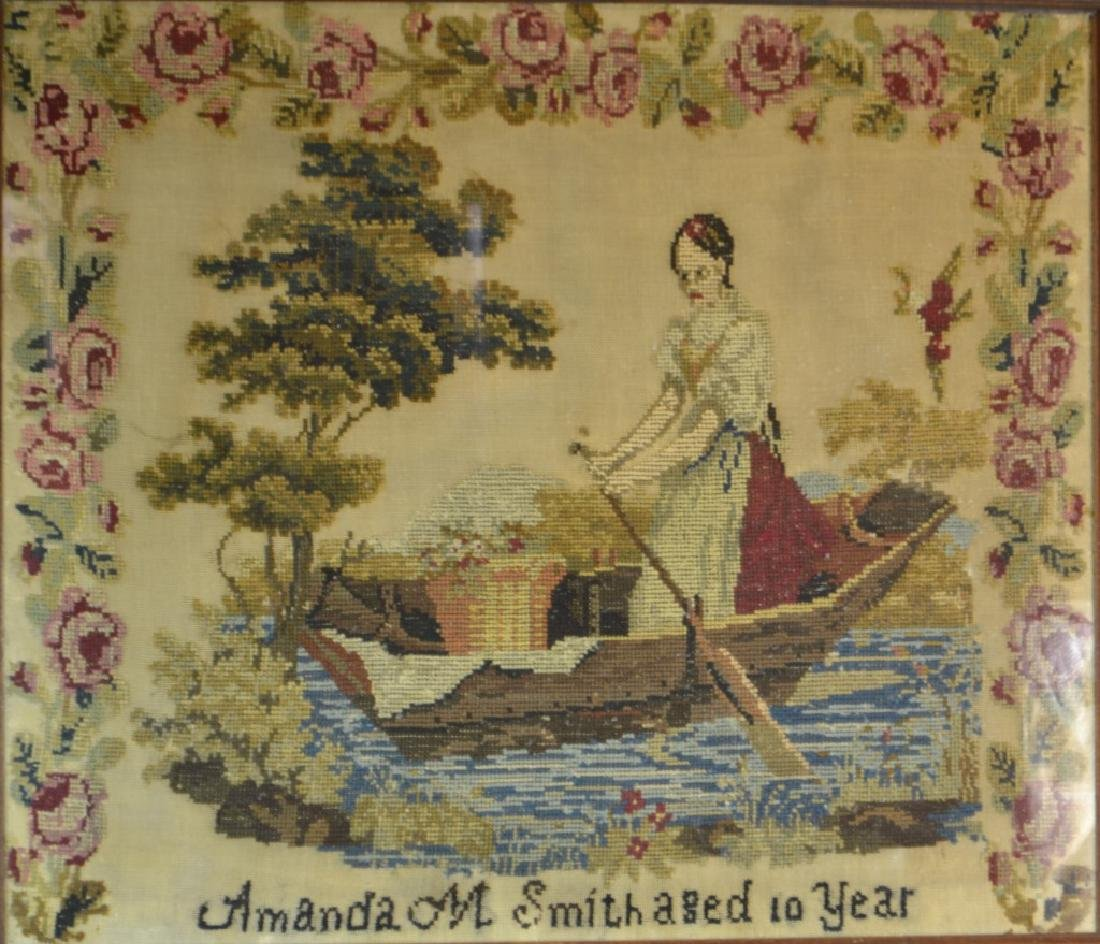 19th Century American Needlepoint (1843) - 2