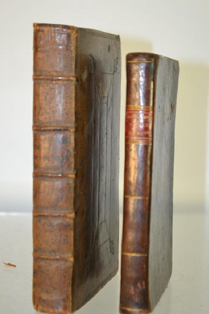 Two 18th C Leather Bound Books