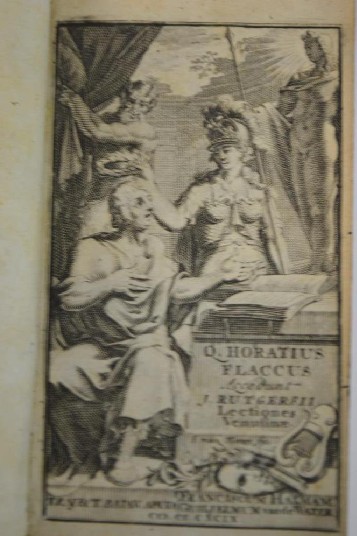 """17th C Book of Poems by, Q.Horaticus """"1699"""" - 3"""