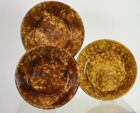 19th C Rockingham-Bennington Pottery Bowls