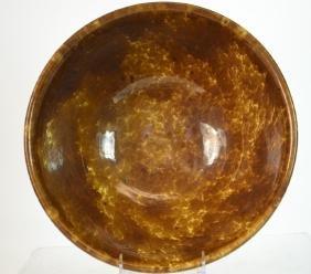 19th C Rockingham-Bennington Pottery Mixing Bowl