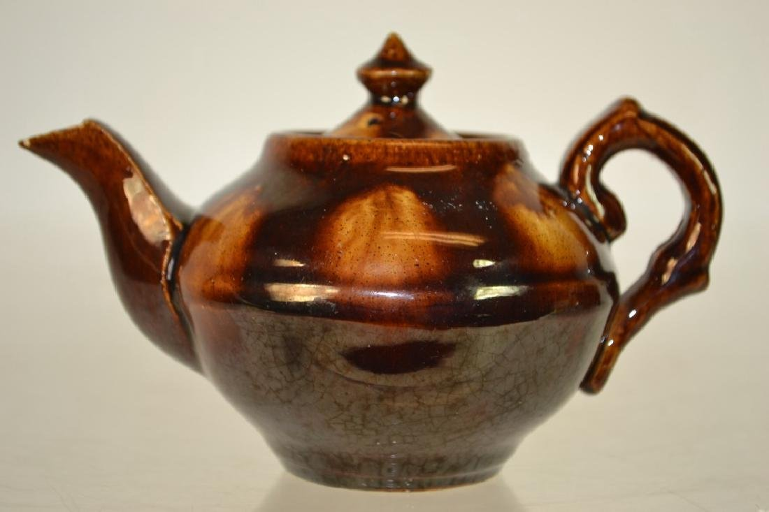 Rockingham-Bennington Pottery Miniature Tea Pot