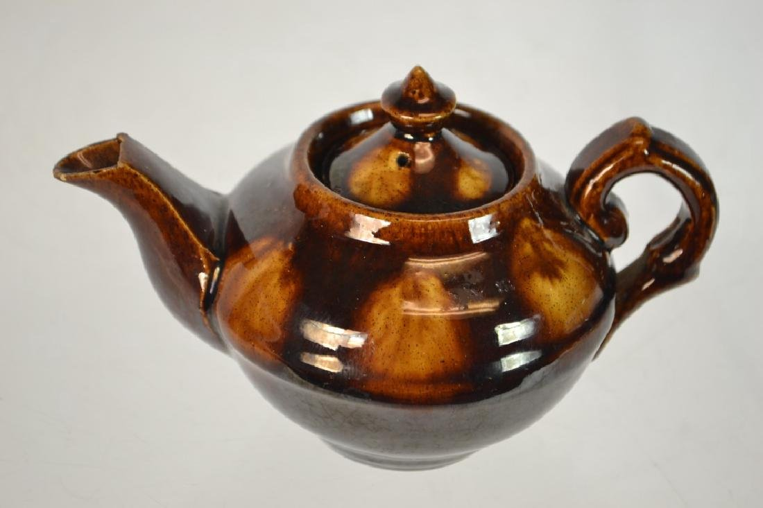 Rockingham-Bennington Pottery Miniature Tea Pot - 2