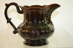 Rockingham-Bennington Pottery Pitcher
