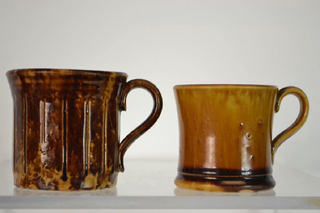 Two Rockingham-Bennington Pottery Mugs - 3