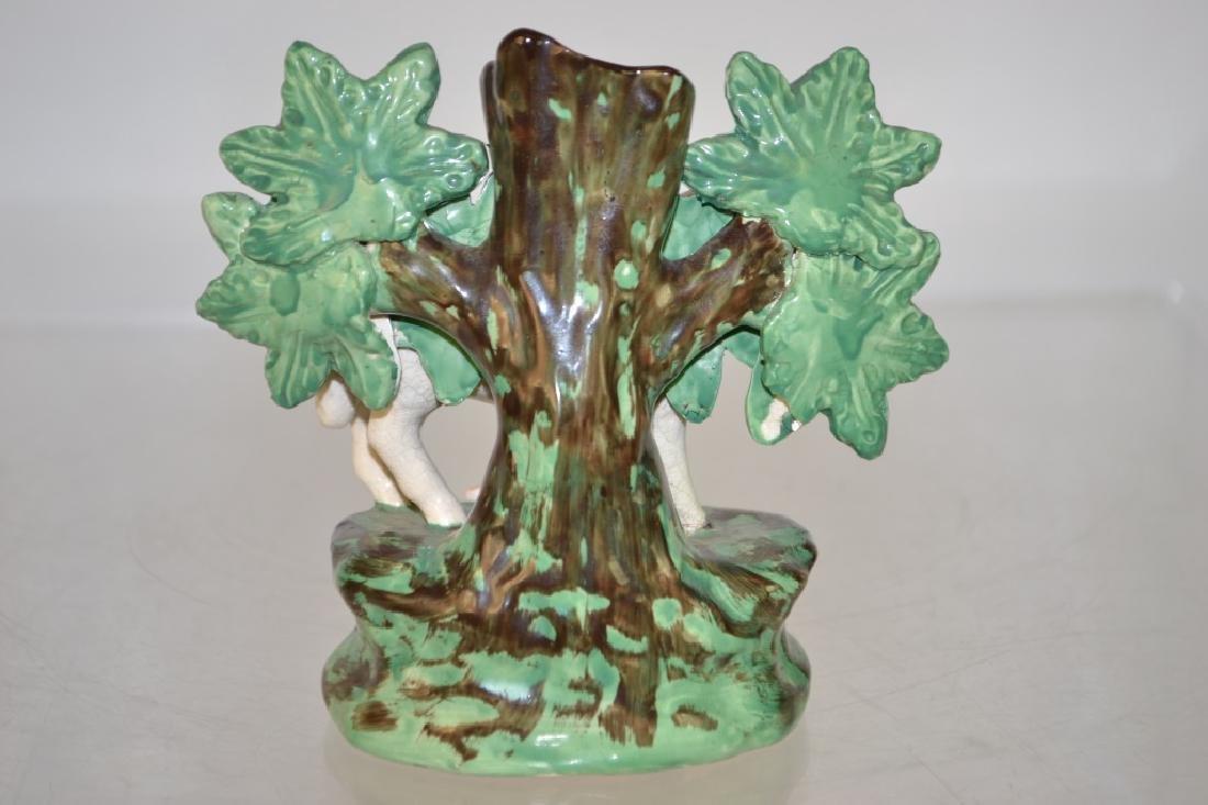 19th C Staffordshire Porcelain Spill Vase - 2