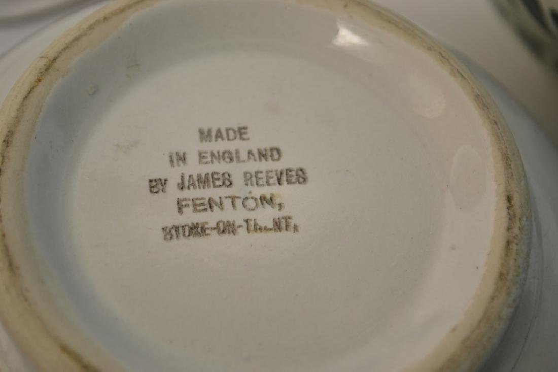 Graduated Set of 19th C Staffordshire Mixing Bowls - 10