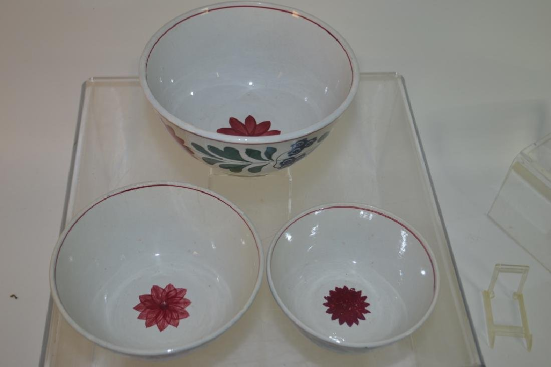 Graduated Set of 19th C Staffordshire Mixing Bowls - 2