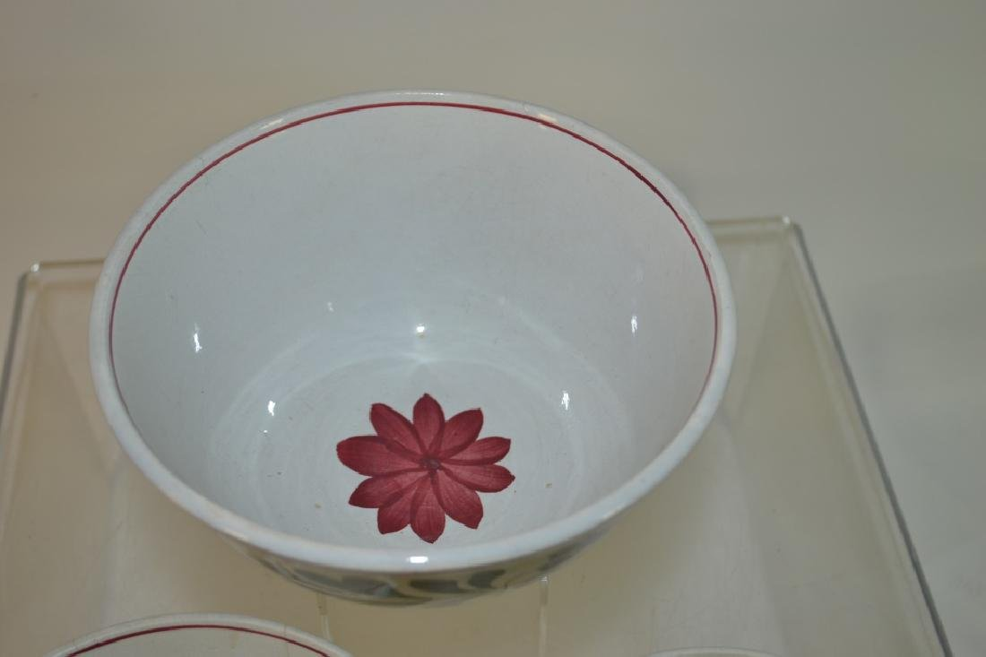 Graduated Set of 19th C Staffordshire Mixing Bowls - 3