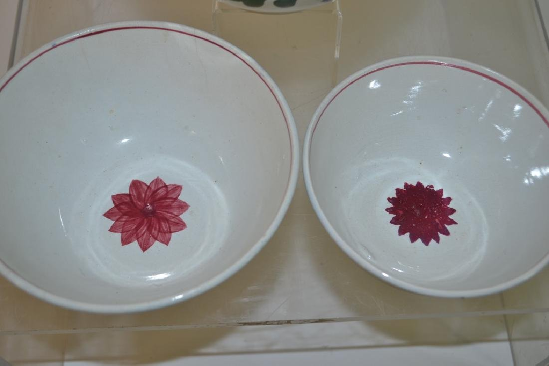 Graduated Set of 19th C Staffordshire Mixing Bowls - 4