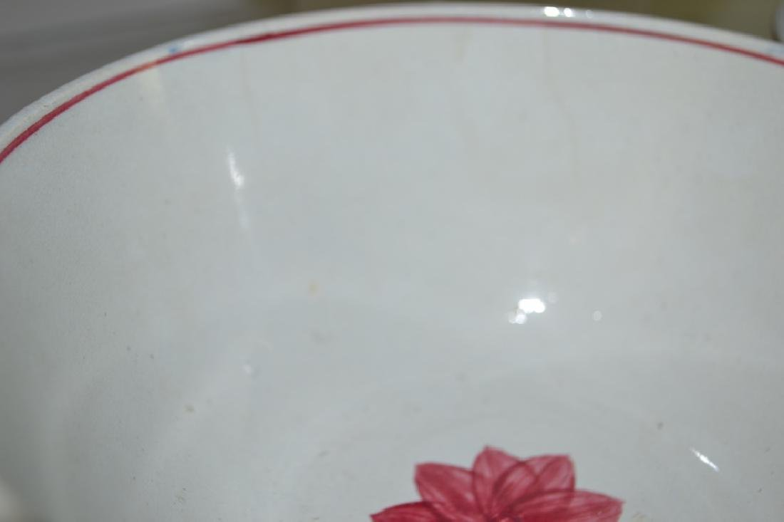 Graduated Set of 19th C Staffordshire Mixing Bowls - 5