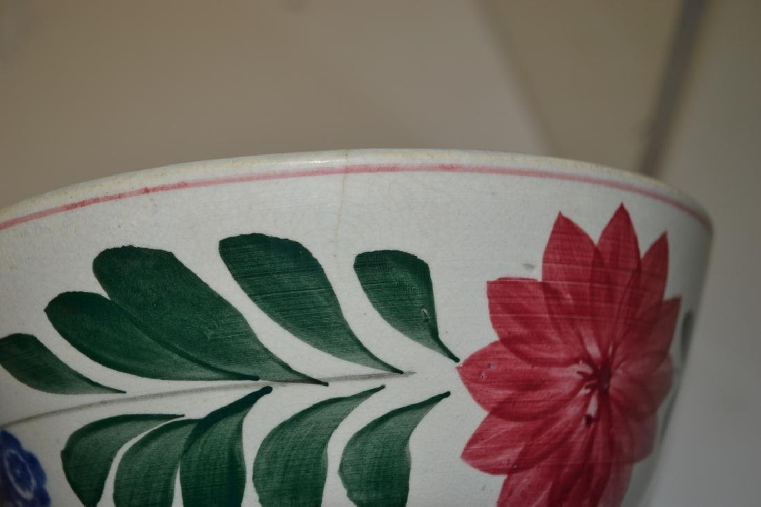 Graduated Set of 19th C Staffordshire Mixing Bowls - 6