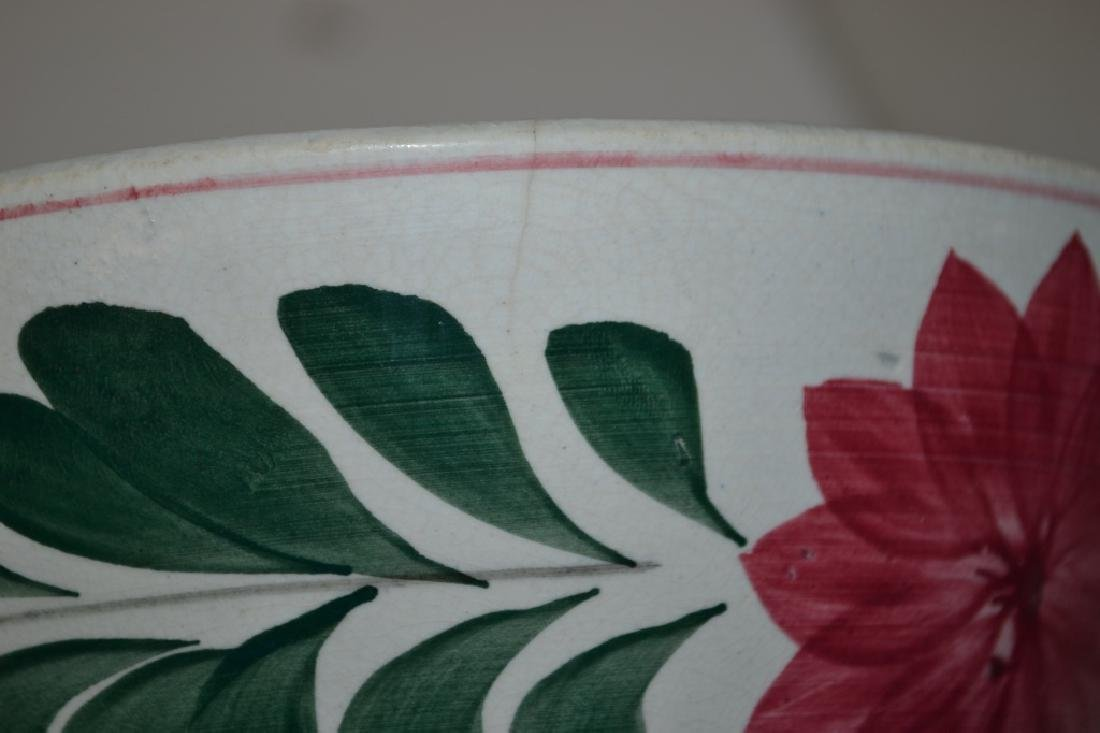 Graduated Set of 19th C Staffordshire Mixing Bowls - 7