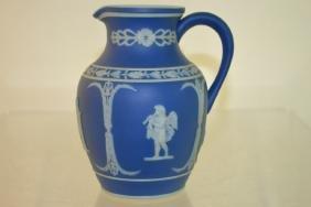 Blue Jasperware Pitcher