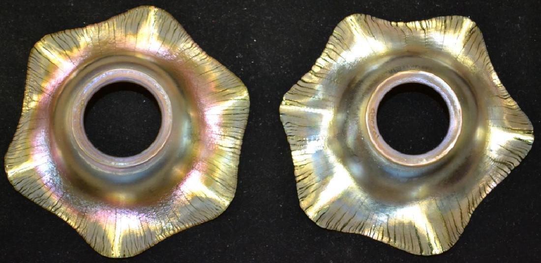 Pair of Rare Form Quezal Shades