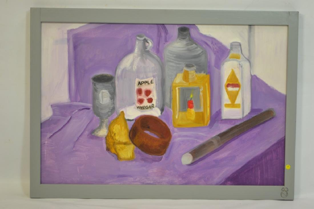 Still Life of Jars on Table Painting