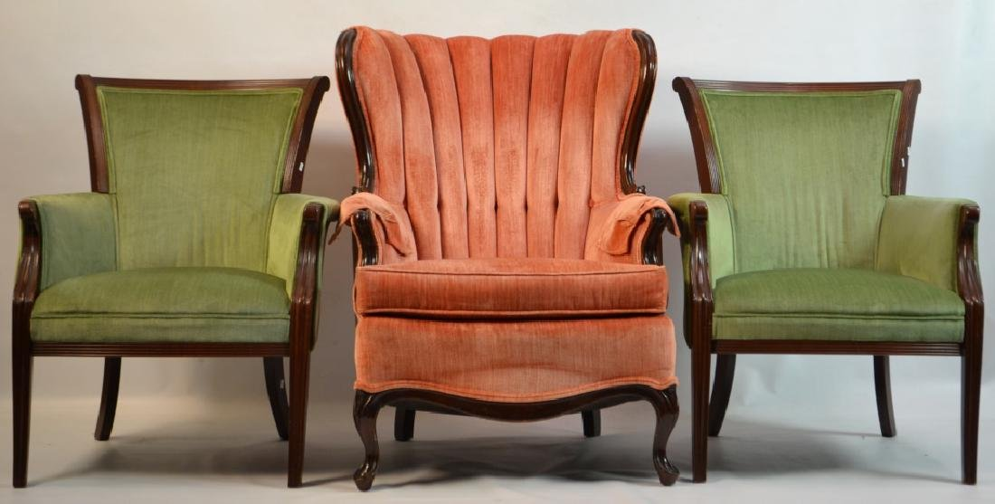 Three Upholstered Chairs