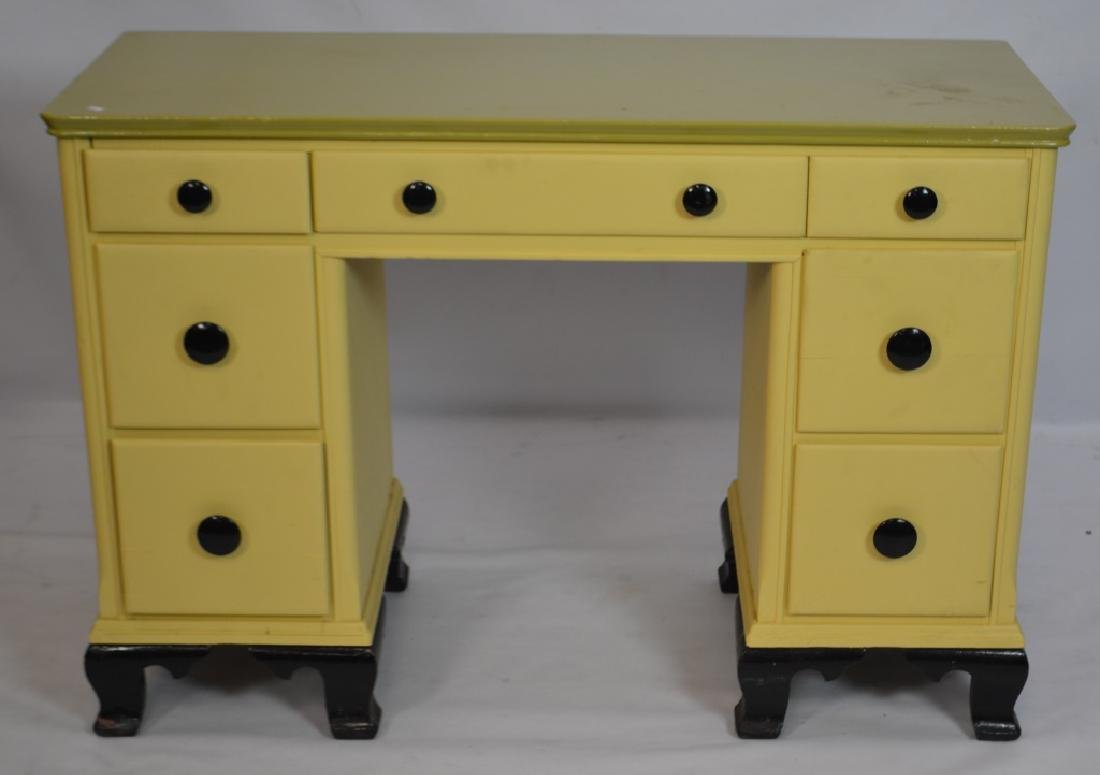 Painted 1940's Desk by Zerbe