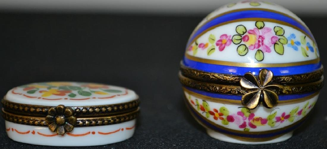 Two Limoges Enameled Boxes