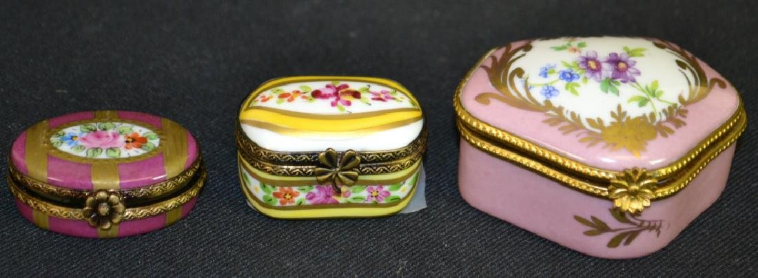 Three Limoges Enameled Boxes