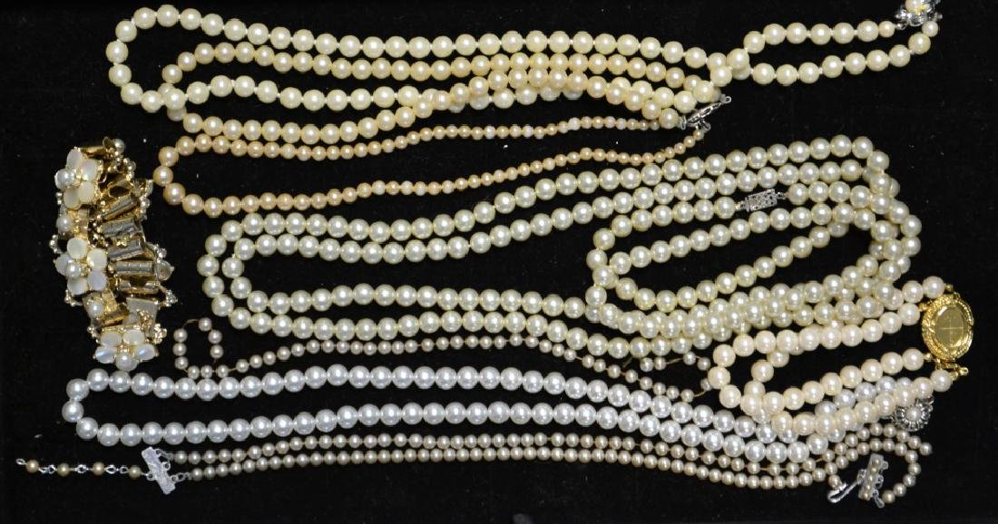 Collection of Faux Pearl Costume Jewelry