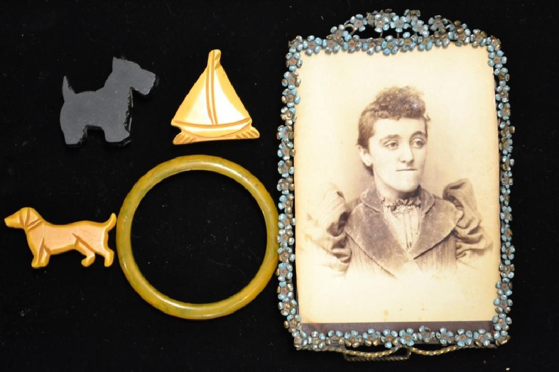 Bakelite Lot & Victorian Frame