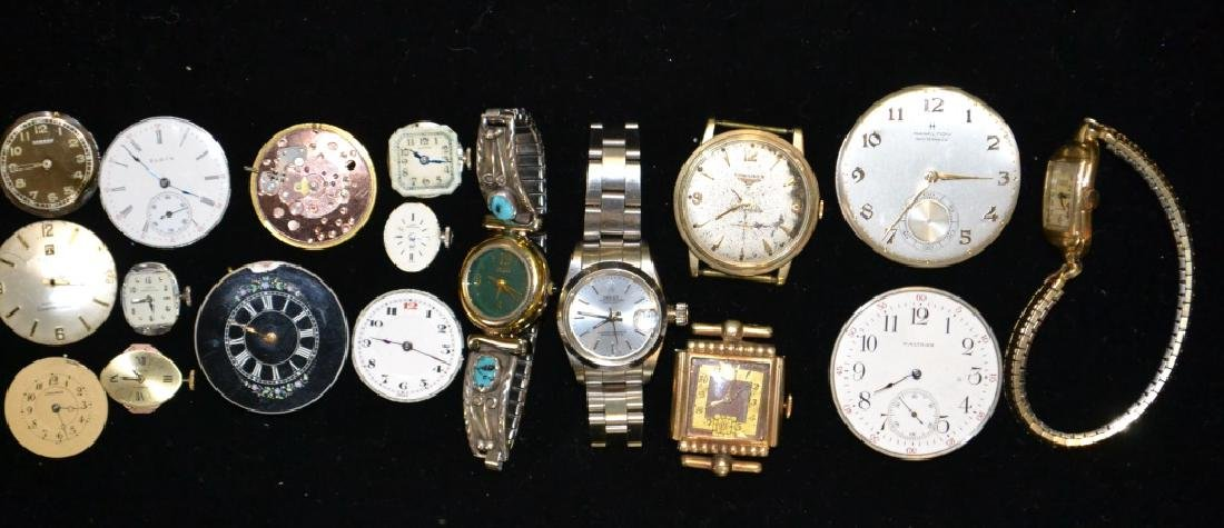 Nine Watch Movements & Wrist Watches