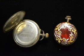 Two Sterling Silver Pocket Watches