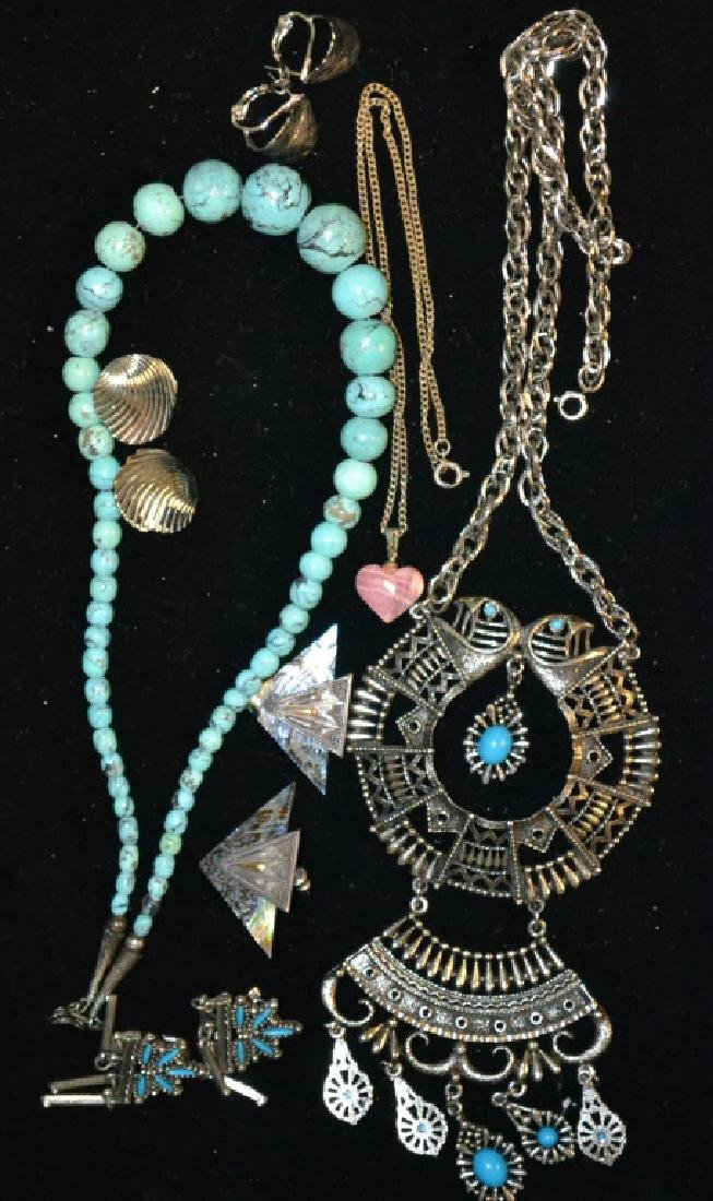 Turquoise Necklace & Costume Jewelry Lot
