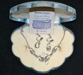 Sterling Silver 2 Pc. Necklace & Earring Set