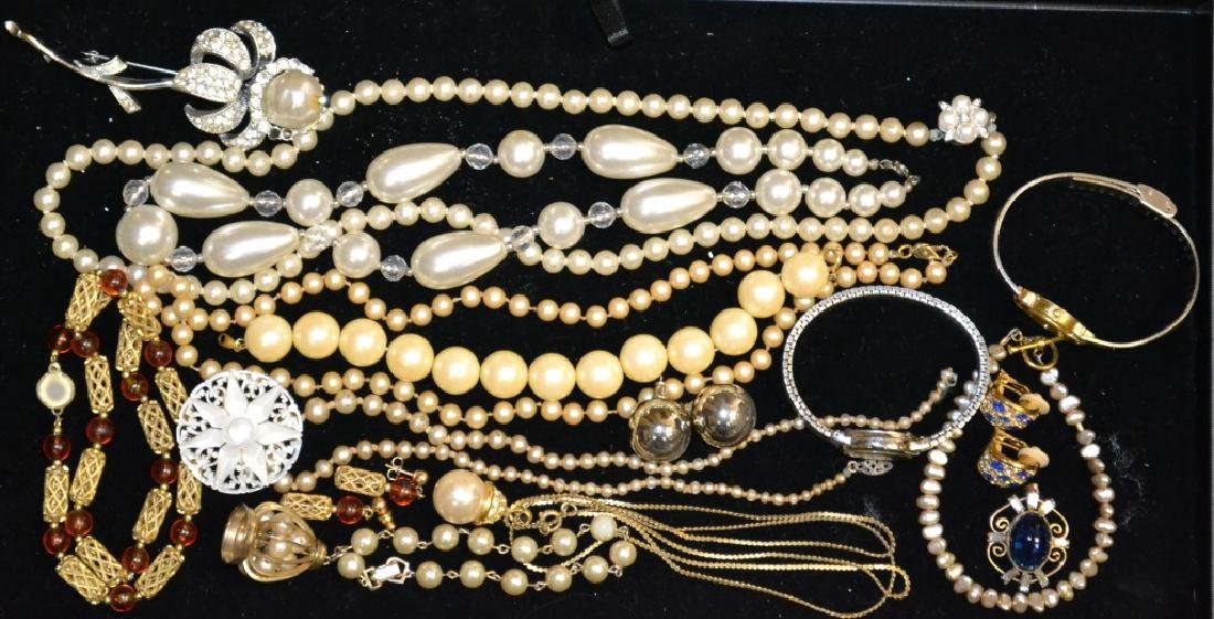 Faux Pearl Jewelry & Other Costume Pieces