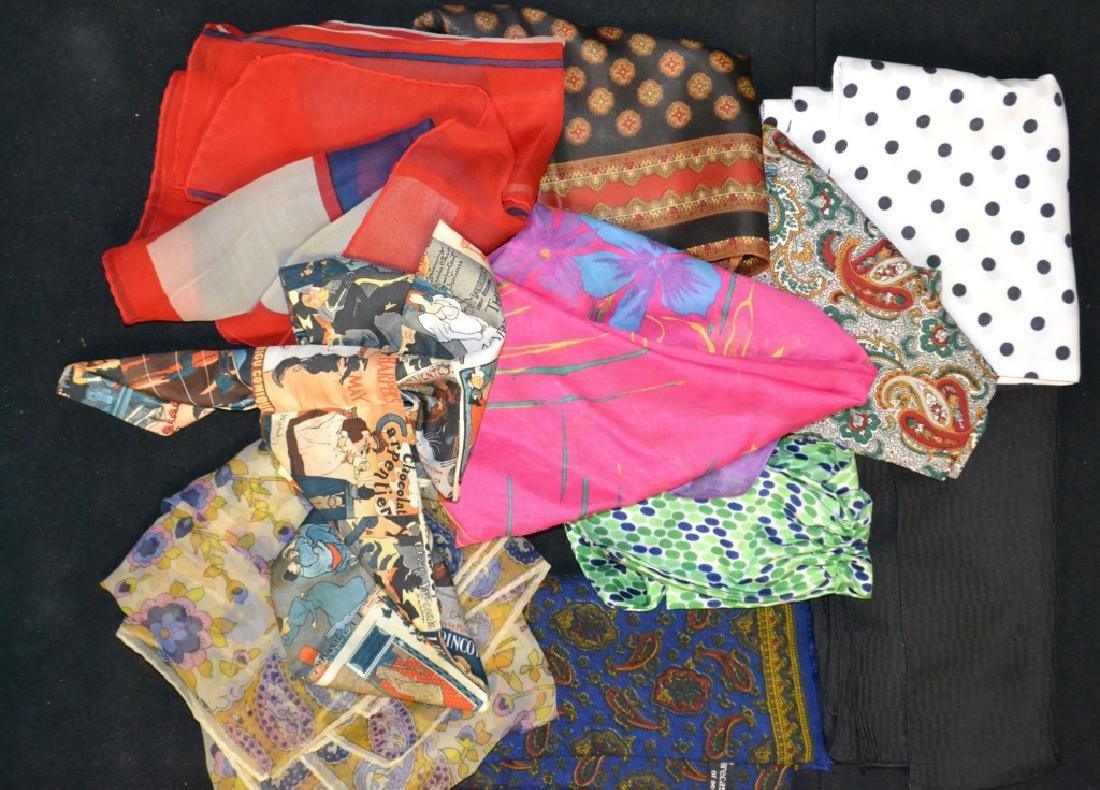 Grouping of Vintage Scarves & Scarfette's