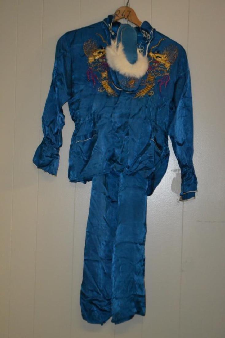 Early 20th C Asian Silk Pajama Set