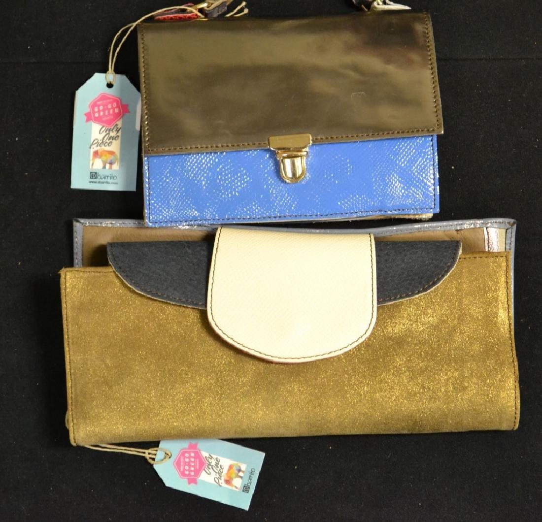 2 Designer Italian Leather Handbags