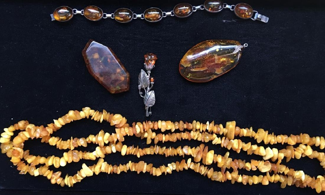 Collection of Vintage Amber Jewelry