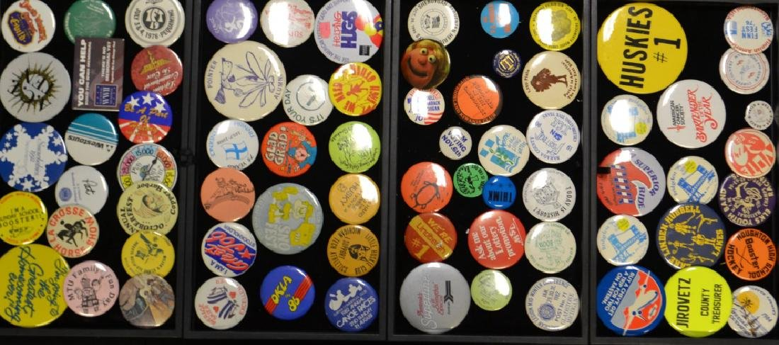 4 Tray Lots Of Assorted Vintage Pins