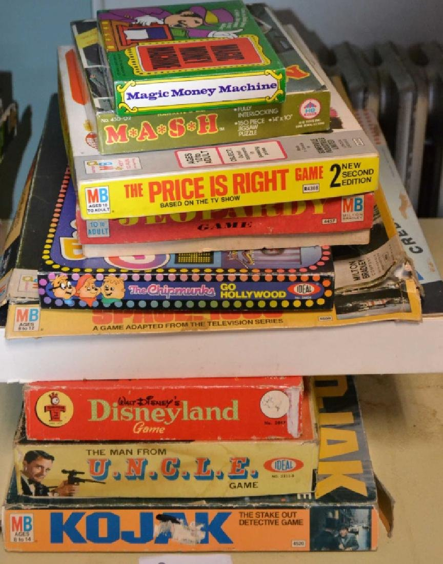 Grouping of 10 1960's Board Games & Activities