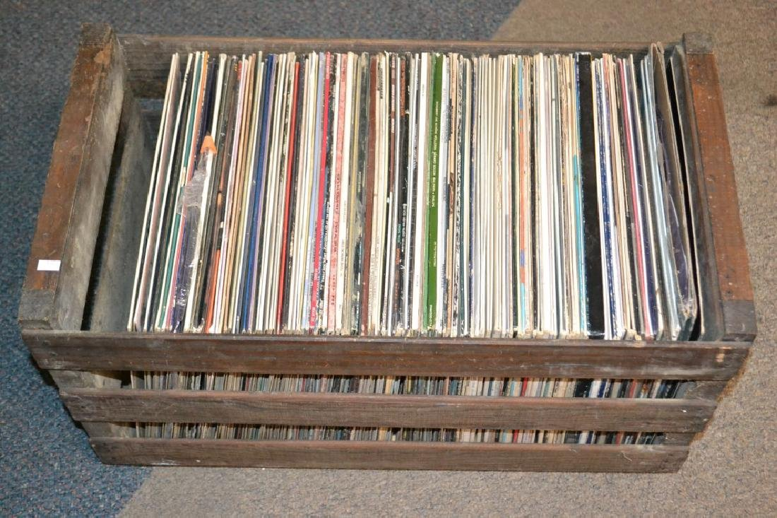 Approx. 50 Various Artists Records in Fruit Crate