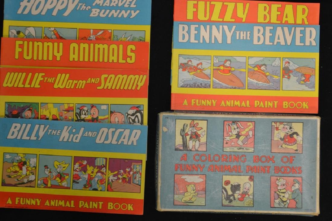 Coloring Box Of Funny Animal Paint Books c.1940's