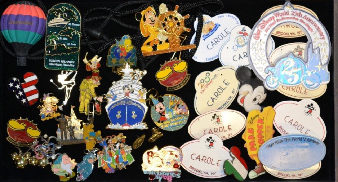 Grouping Of Walt Disney Pins, Badges