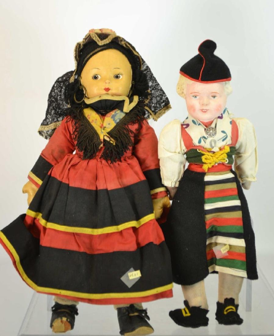 Pair of Late 1930's Dutch Dolls