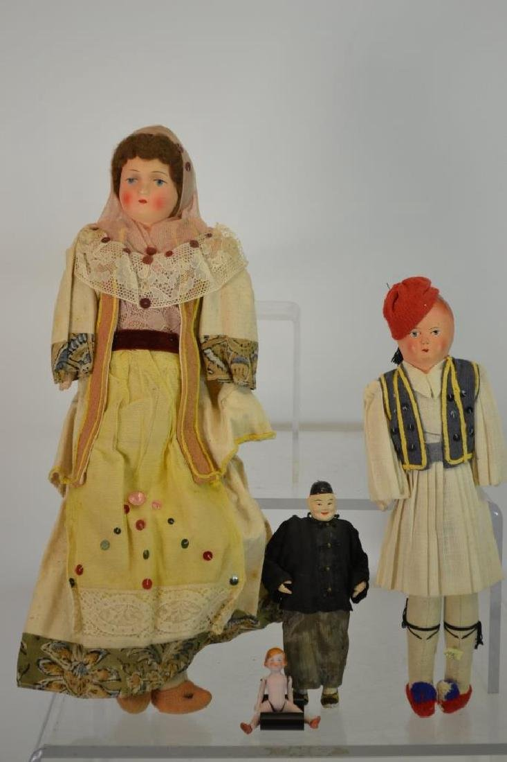 Hinged Porcelain Doll & Other Dolls
