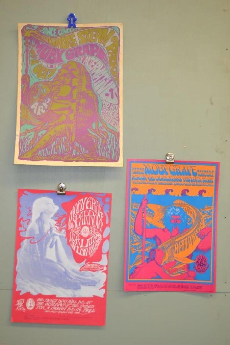 Three Moby Grape Posters