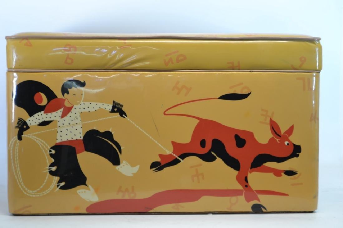 1950's Vinyl Cowboy Toy Box