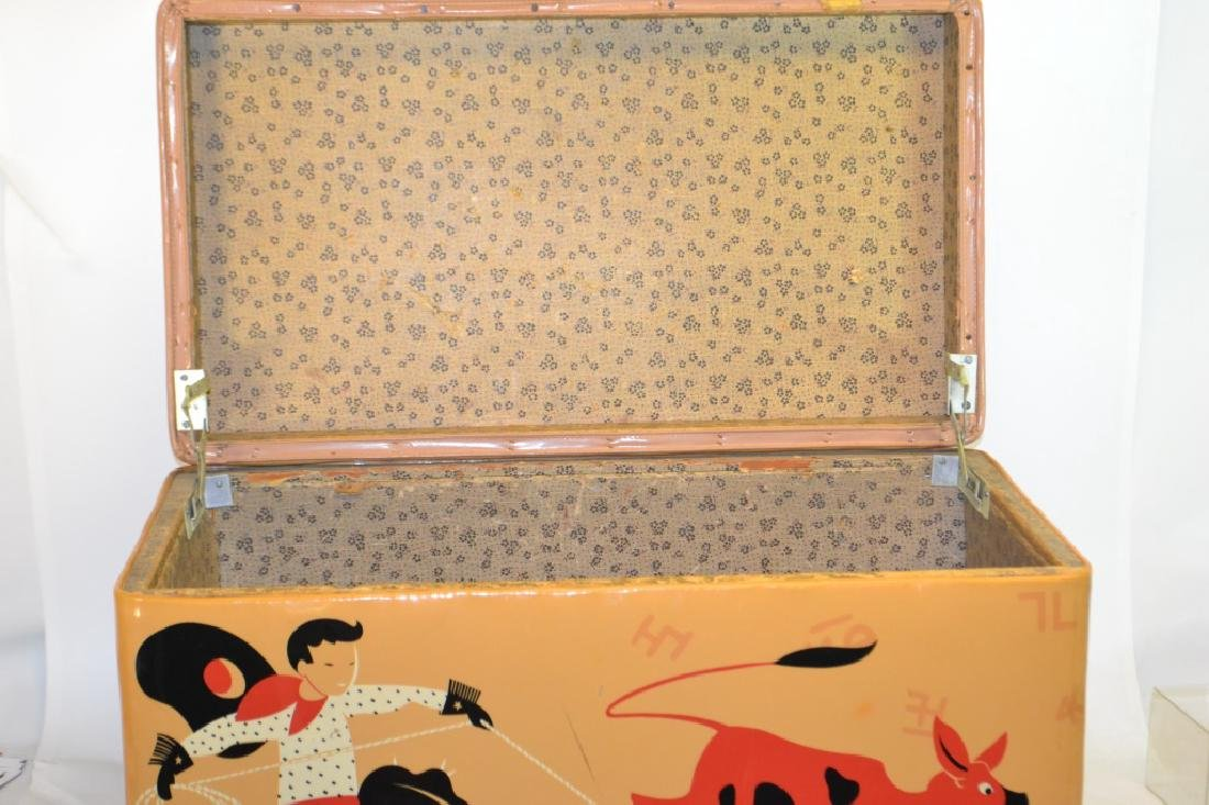 1950's Vinyl Cowboy Toy Box - 2