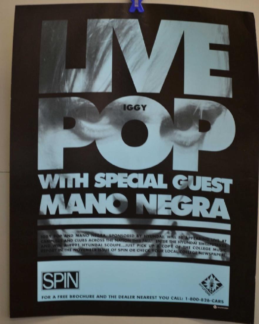 Four Live Iggy Pop w/ Mano Negra Posters