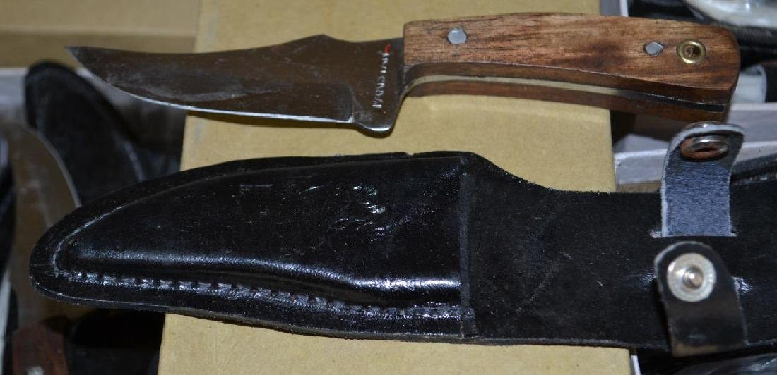 Approx. 11 Boot Knives & Leather Sheaths