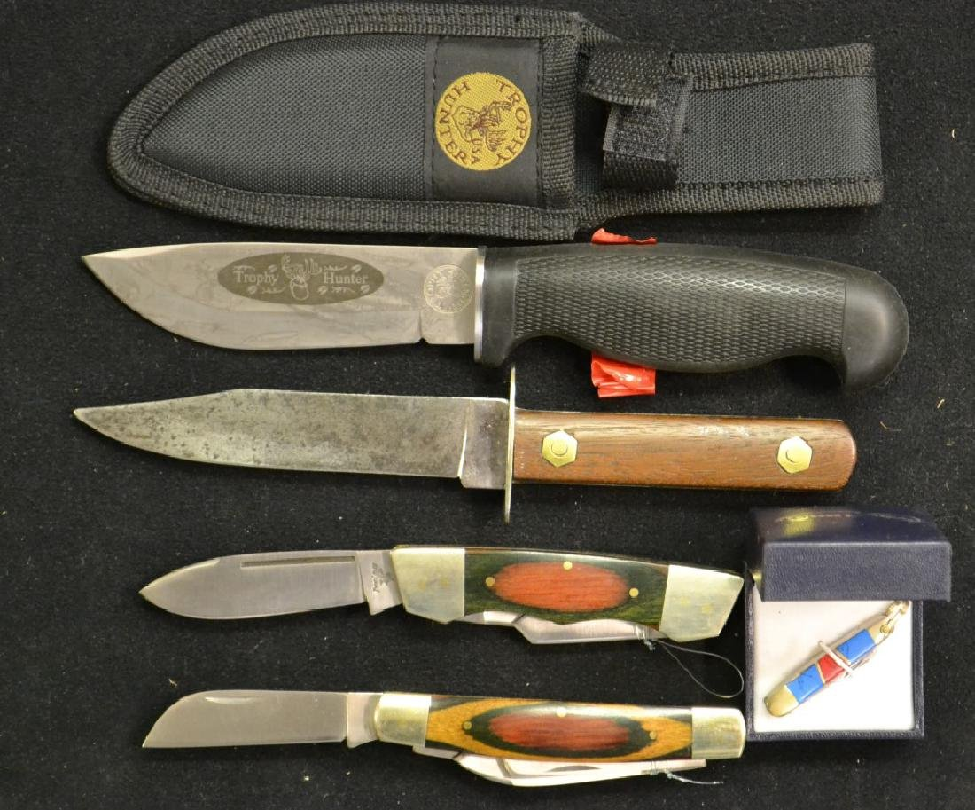 Assorted Grouping of Hunting & Pocket Knives