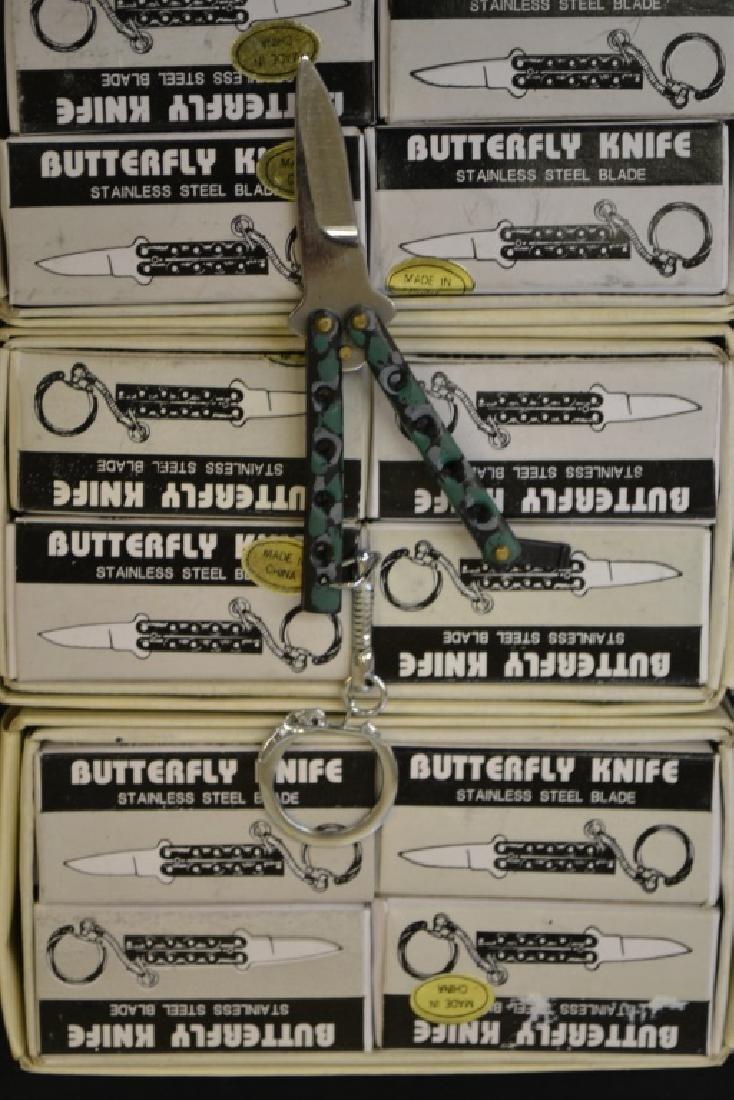 Three Dozen Novelty Key Chain Butterfly Knives